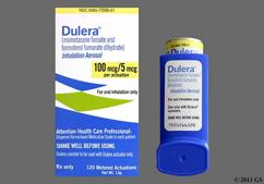 white and yellow - Dulera 100mcg-5mcg/actuation Inhalation Aerosol