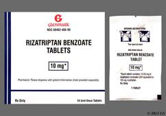 Red-Brown Round 466 - Rizatriptan Benzoate 10mg Tablet