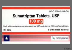 White Oblong C And 34 - Sumatriptan Succinate 100mg Tablet