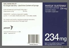 Invega Sustenna Coupon - Invega Sustenna 1.5ml of 234mg syringe
