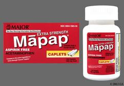 White Oblong Tablet A5 And Gpi - Mapap 500mg Caplet