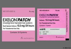 Beige Rectangular Carton Exelon Patch 13.3 Mg/24 Hours, Cnfu - Exelon 13.3mg/24hr Transdermal Patch