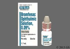 yellow and yellow-orange - Bromfenac 0.09% Ophthalmic Solution
