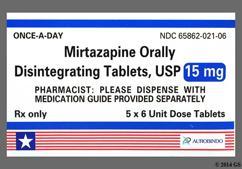 Mirtazapine Coupon - Mirtazapine 15mg orally disintegrating tab