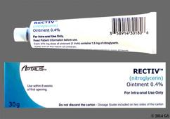 Rectiv Coupon - Rectiv 30g of 0.4% tube of ointment