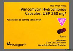 Brown Capsule Sal 730 - Vancomycin Hydrochloride 250mg Capsule