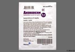 beige round carton - Androderm 4mg/24hr Transdermal System