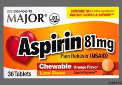 Orange Round Chewable Tablet 44 218 - Aspirin 81mg Chewable Tablet