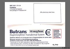 beige rectangular - Butrans 10mcg/hr Transdermal Patch