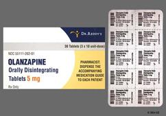 Yellow Oblong Orally Disintegrating Tab R-262 - Olanzapine 5mg Orally Disintegrating Tablet