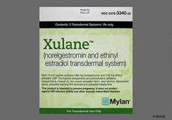 Peach Rectangular Package Xulane (Norelgestromin And Ethinyl Estradiol) 150/35 Mcg Per Day - Xulane Transdermal Patch