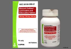 Blue-Green Oval Tablet Lu And N51 - Abacavir Sulfate/Lamivudine/Zidovudine 300mg-150mg-300mg Tablet