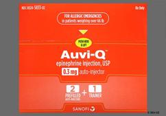 Auvi-Q Coupon - Auvi-Q 2 auto-injectors of 0.3mg package