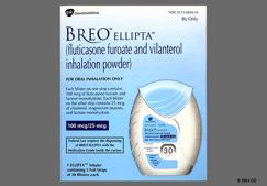 white - BREO ELLIPTA 100mcg-25mcg/actuation Powder for Inhalation