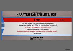 White Round Dose Pack 214 And Pad - Naratriptan Hydrochloride 1mg Tablet
