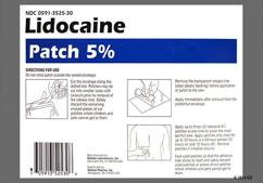 White Rectangular Lidocaine Patch 5% - Lidocaine 5% Transdermal Patch