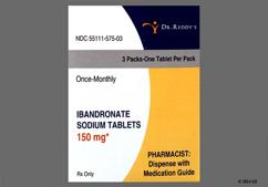 White Oblong R575 - Ibandronate Sodium 150mg Tablet