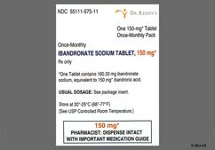White Oblong Dose Pack R575 - Ibandronate Sodium 150mg Tablet