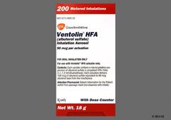 Ventolin HFA Coupon - Ventolin HFA 18g of 90mcg inhaler