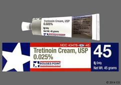 white - Tretinoin 0.025% Topical Cream