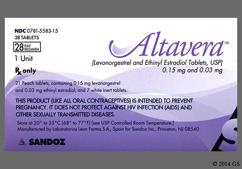 Altavera Coupon - Altavera 28 tablets of 0.15mg/0.03mg package