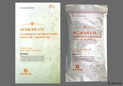 Green Round A2 - ALYACEN 1/35 1mg-0.035mg 28-Day Tablet