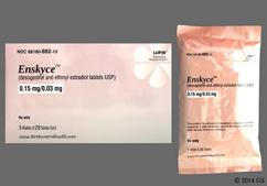 Enskyce Coupon - Enskyce 28 tablets of 0.15mg/0.03mg package
