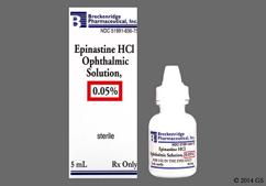 Epinastine Coupon - Epinastine 5ml of 0.05% eye dropper