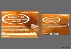 Green Round 93 And 743 - Cyclafem 1/35 Tablet