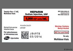 yellow - Heparin Sodium 5,000unit/mL Solution for Injection