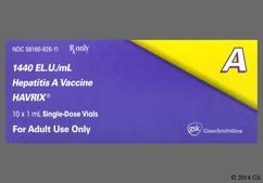 white - Havrix 1440ELISA units/ml Suspension for Injection