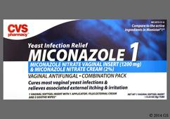 Miconazole 1 Coupon - Miconazole 1 1200mg suppository and 2% cream kit