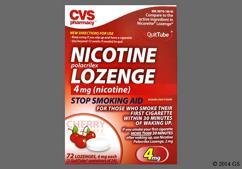 White Round Lozenge L873 - CVS Nicotine Polacrilex 4mg Lozenge (Cherry)