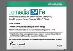 Lomedia 24 FE Coupon - Lomedia 24 FE 28 tablets of 1mg/20mcg package