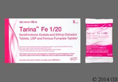 Brown Round 291 - Tarina Fe 1/20 28-Day Tablet