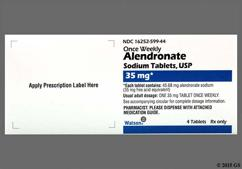 Alendronate Coupon - Alendronate 4 tablets of 35mg dose pack