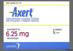 White Round Dose Pack 2080 - Axert 6.25mg Tablet