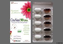 Citranatal 90 DHA Coupon - Citranatal 90 DHA 30 day of 90mg/1mg/300mg kit