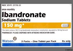 White Oblong Dose Pack In150 And Logo - Ibandronate Sodium 150mg Tablet