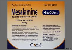 tan and white - Mesalamine 4g/60ml Rectal Enema Suspension