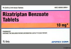Pink Oblong Tablet Rz 10 And Apo - Rizatriptan Benzoate 10mg Tablet