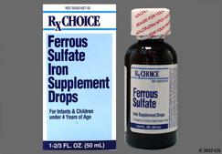 colorless - Ferrous Sulfate 75mg/1ml Drops