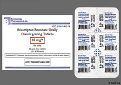 White Round 10 - Rizatriptan Benzoate 10mg Orally Disintegrating Tablet