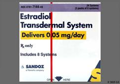 Estradiol Coupon - Estradiol 8 twice-weekly patches of 0.05mg/day carton