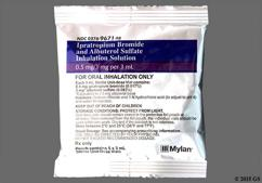colorless - Ipratropium Bromide/Albuterol Sulfate 0.5mg-3mg/3ml Solution for Inhalation