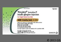 colorless - Toujeo SoloStar 300units/mL Pre-Filled Pen Solution for Injection