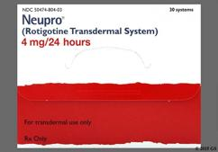 tan square - Neupro 4mg/24hr Transdermal Patch