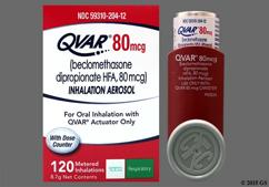 Qvar Coupon - Qvar 8.7g of 80mcg inhaler