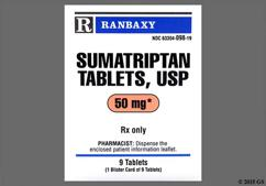 White Round Dose Pack Ri62 - Sumatriptan Succinate 50mg Tablet