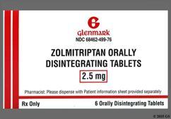White Round Dose Pack F7 - Zolmitriptan 2.5mg Orally Disintegrating Tablet